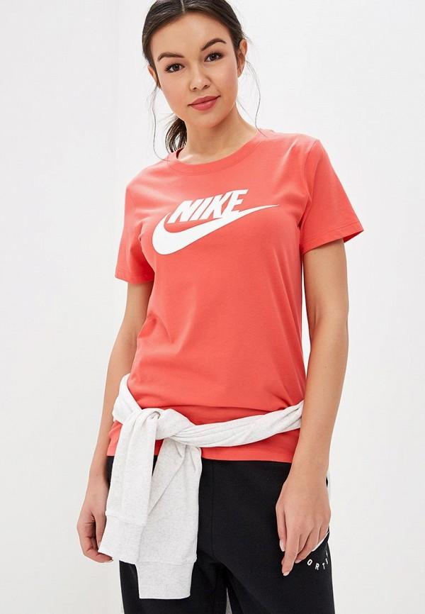 Купить Футболка Nike, W NSW TEE ESSNTL ICON FUTURA, ni464ewdnmw3, коралловый, Весна-лето 2019