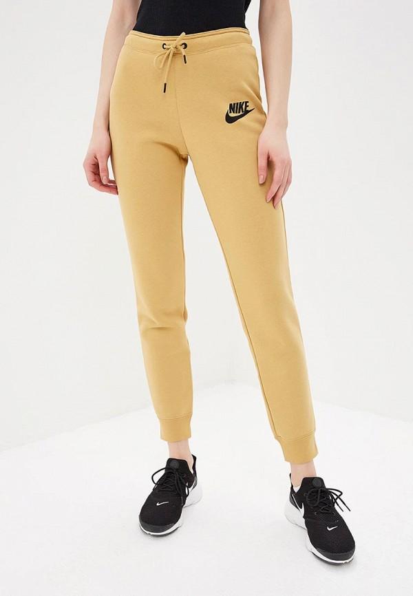 Купить Брюки спортивные Nike, W NSW RALLY PANT TIGHT, ni464ewdnnc5, бежевый, Весна-лето 2019
