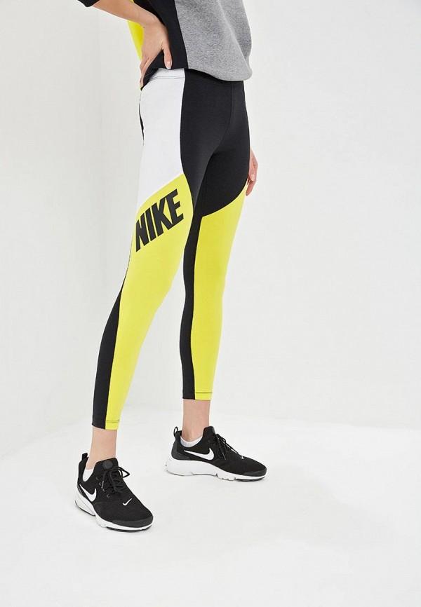 женские спортивные леггинсы nike, желтые