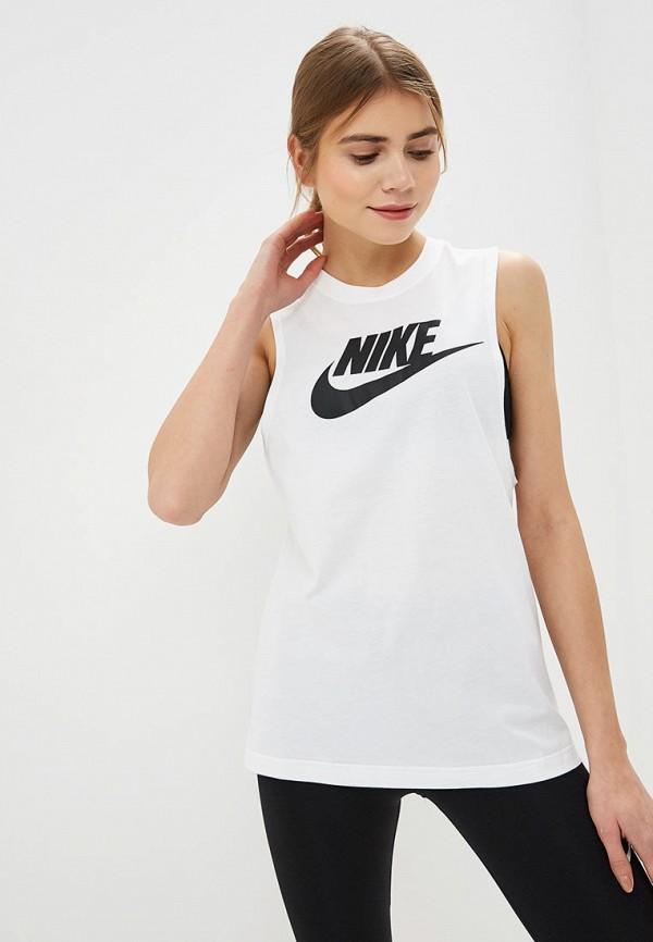 Купить Майка спортивная Nike, W NSW TANK ESSNTL MSCL FUTURA, ni464ewdnwz5, белый, Весна-лето 2019