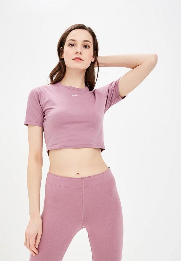 Купить Футболка Nike, W NSW ESSNTL TOP SS CROP GX, ni464ewdnxc2, розовый, Весна-лето 2019