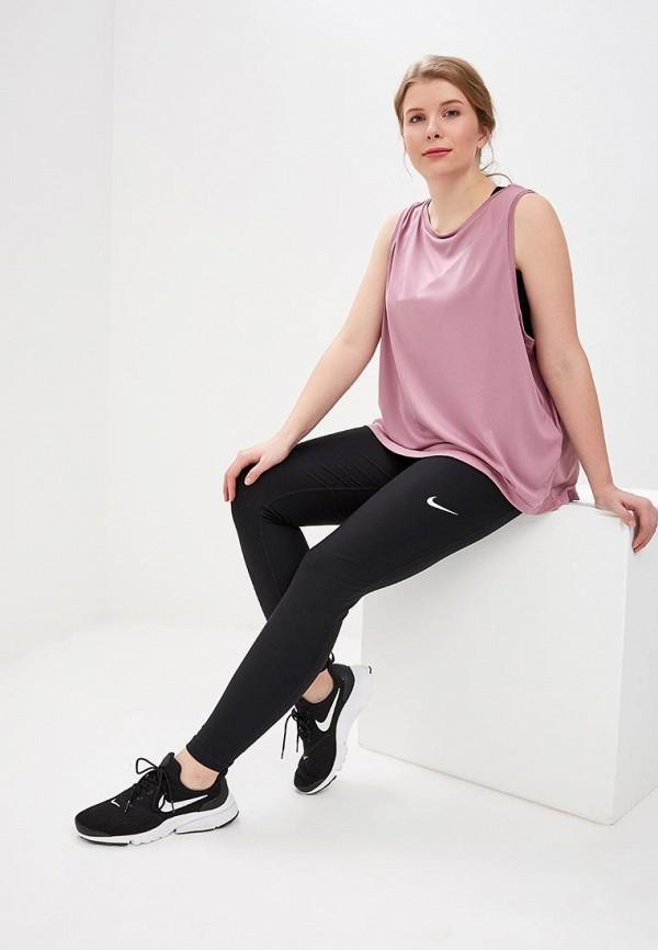 Фото 2 - Майку спортивная Nike розового цвета