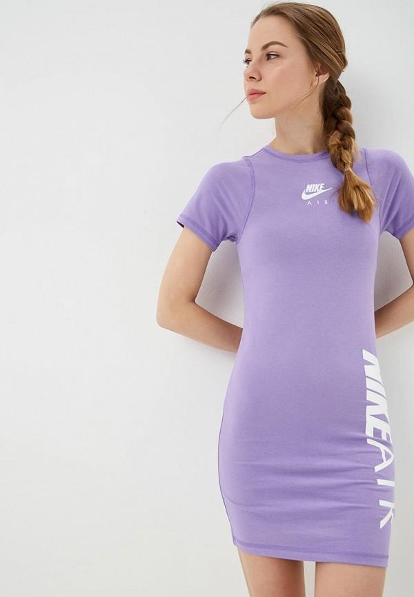 Купить Платье Nike, W NSW AIR DRESS, ni464ewetrb8, фиолетовый, Весна-лето 2019