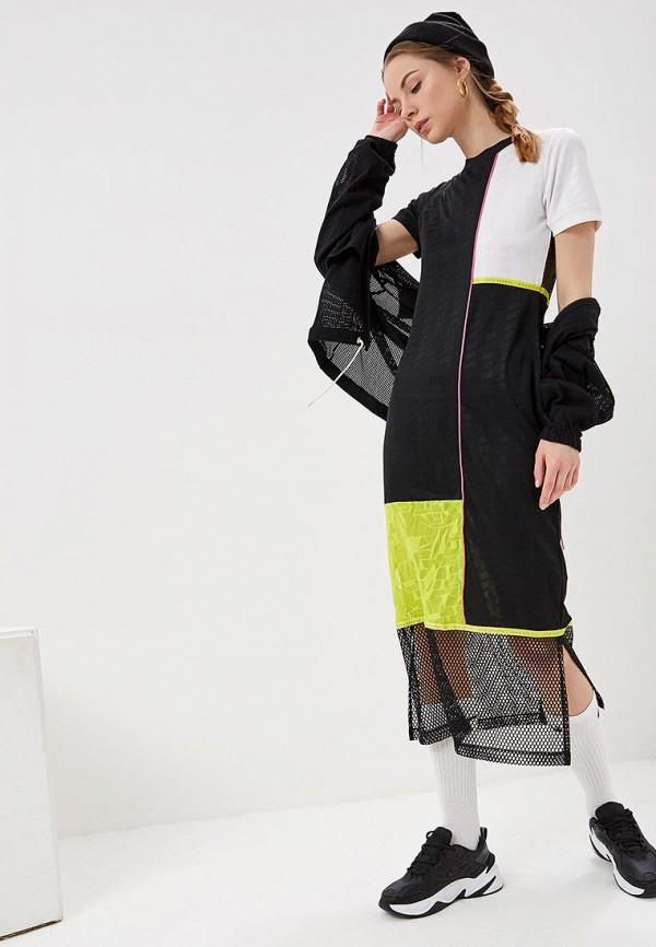 женское спортивные платье nike, черное