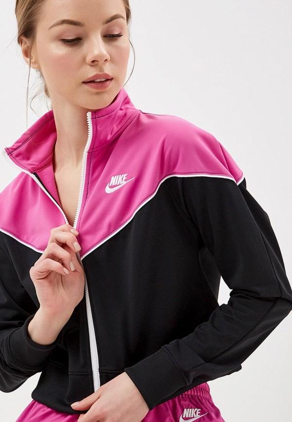 Фото 4 - женскую толстовку или олимпийку Nike розового цвета