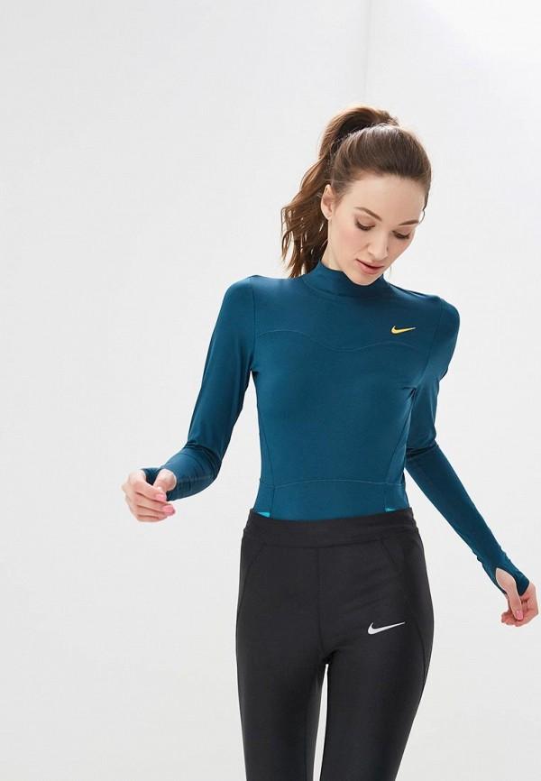 Купить Боди Nike, W NP SRF SPT HPRCL BODYSUIT, ni464ewetrn2, зеленый, Весна-лето 2019