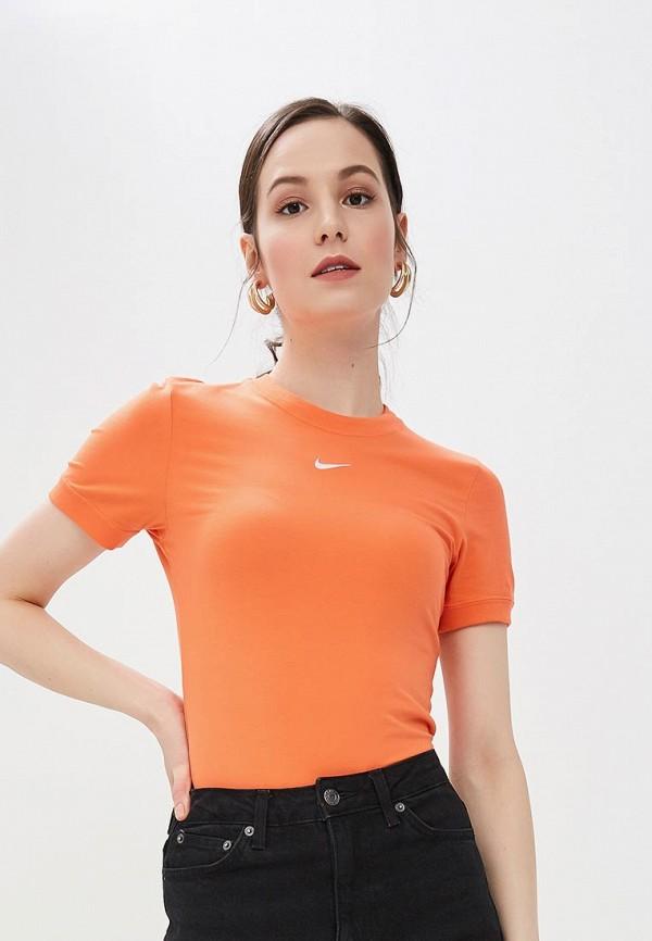 женские боди nike, оранжевые