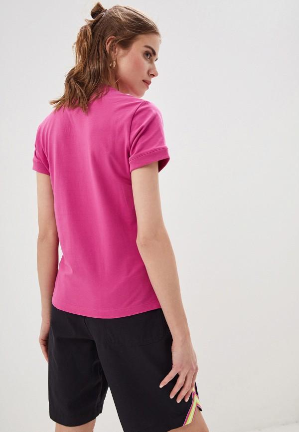 Фото 3 - Женскую футболку Nike розового цвета