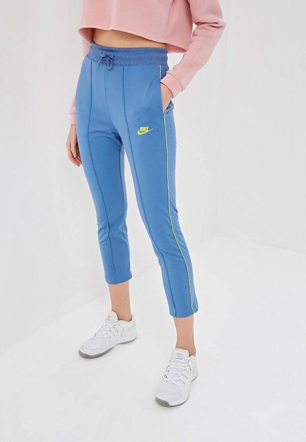 женские спортивные спортивные брюки nike, синие