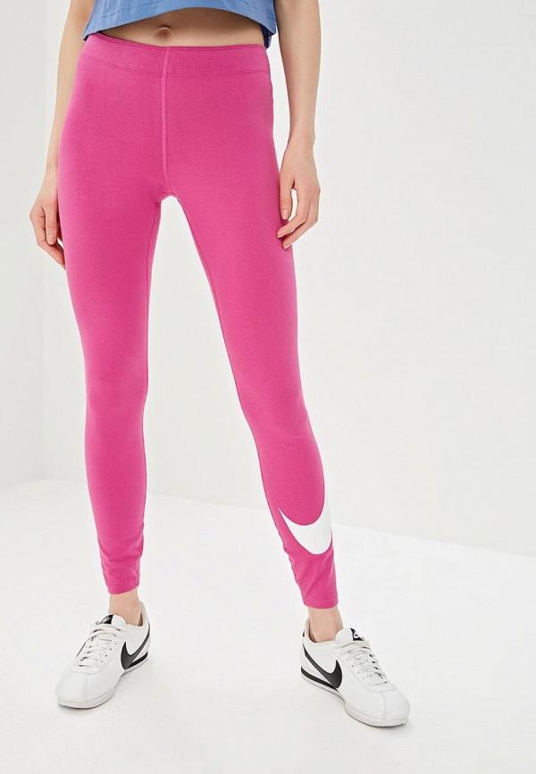 женские спортивные леггинсы nike, розовые