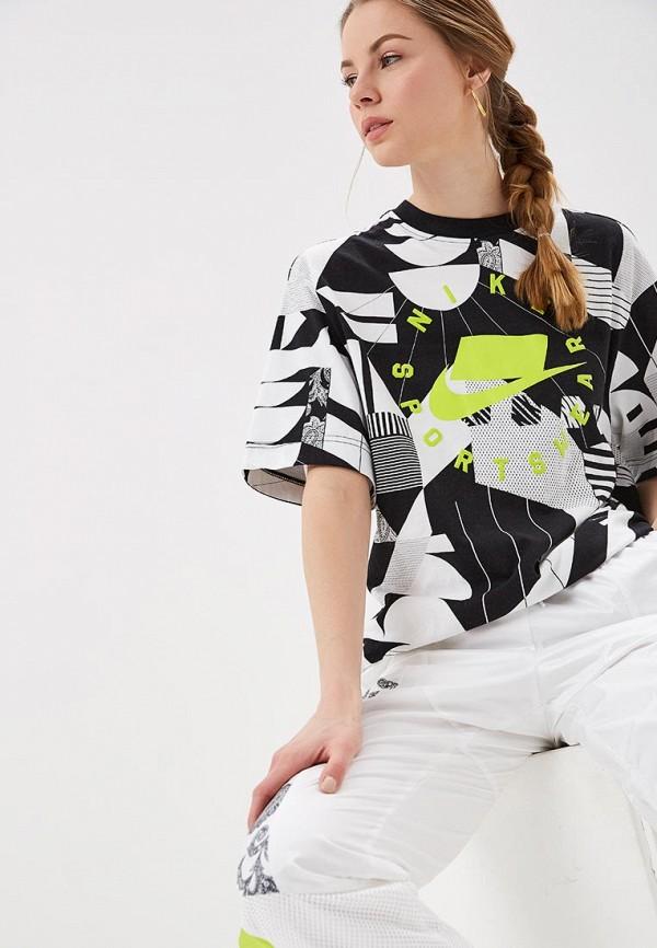 женская спортивные футболка nike, разноцветная