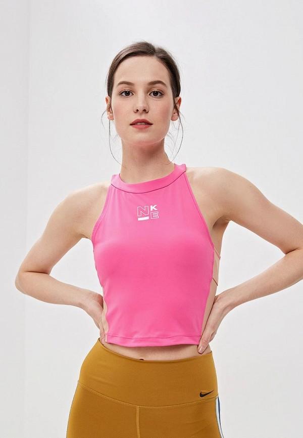 Купить Топ спортивный Nike, W NP SRF SPT TANK, ni464ewetst2, розовый, Весна-лето 2019