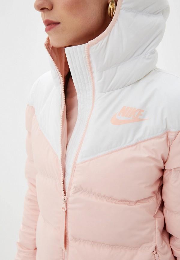 Фото 5 - Пуховик Nike розового цвета