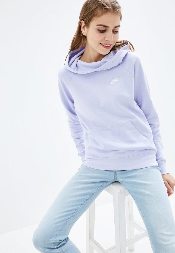 женские худи nike, фиолетовые
