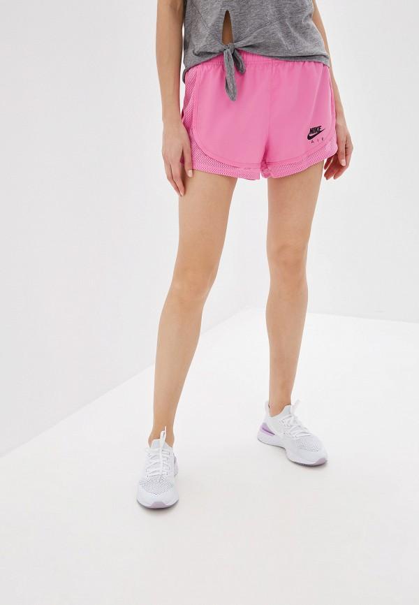 женские спортивные спортивные шорты nike, розовые