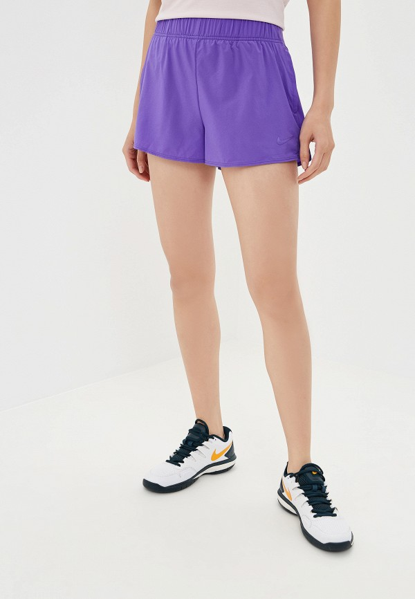 Фото - Шорты спортивные Nike фиолетового цвета