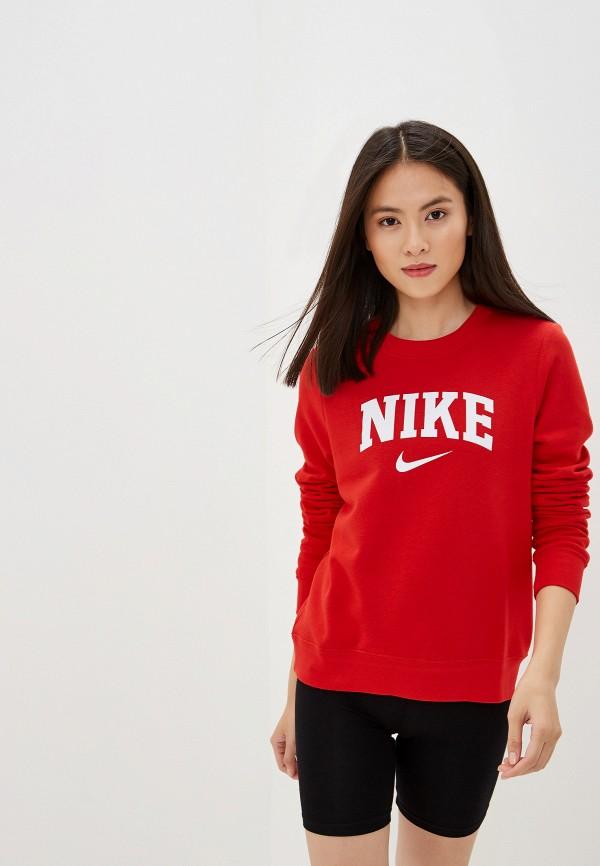 женский свитшот nike, красный