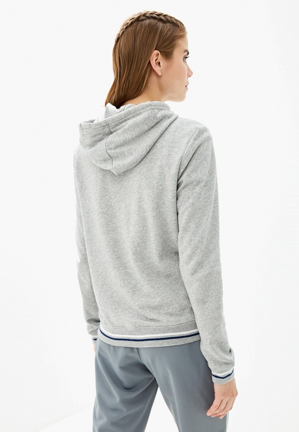 Фото 3 - женскую толстовку или олимпийку Nike серого цвета