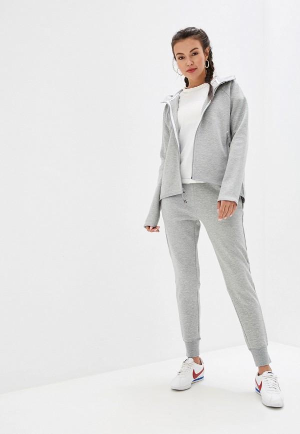 Фото 2 - женскую толстовку или олимпийку Nike серого цвета