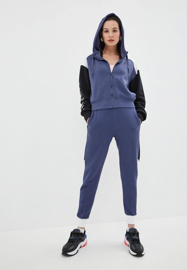 Фото 5 - женскую толстовку или олимпийку Nike синего цвета