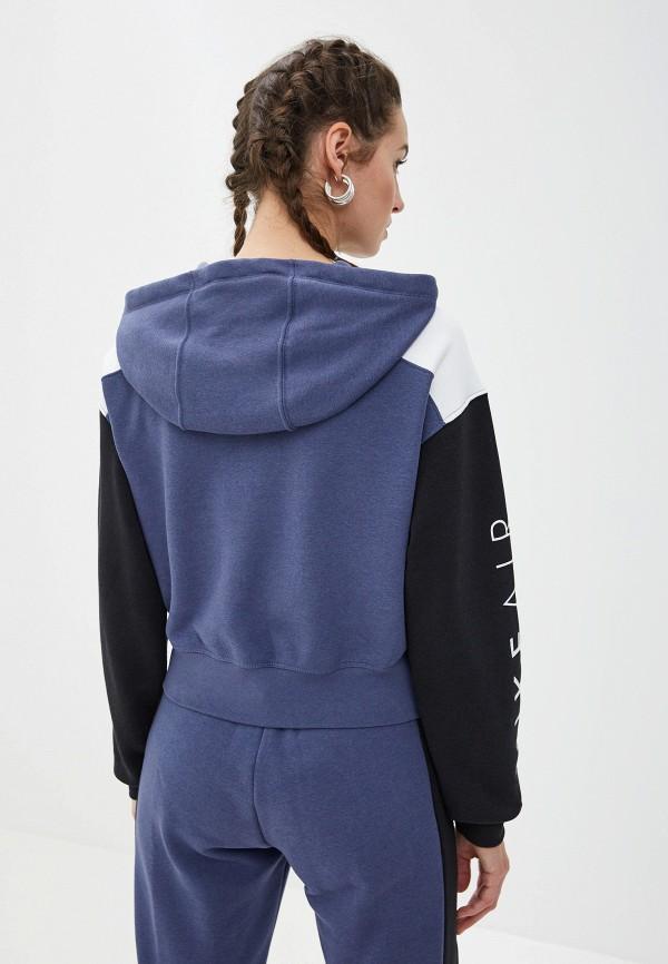 Фото 6 - женскую толстовку или олимпийку Nike синего цвета