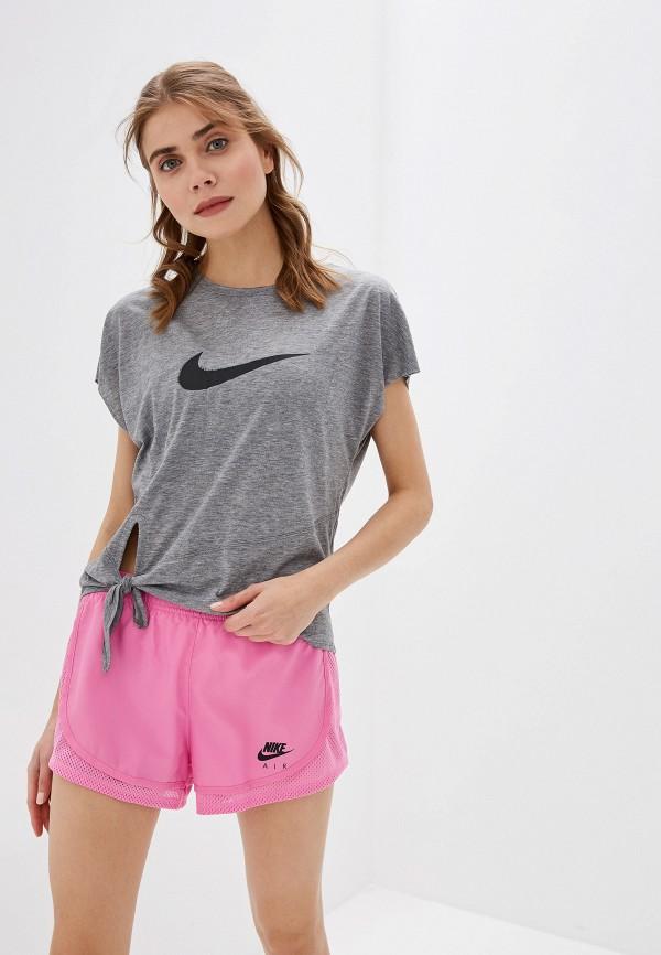 женская футболка nike, серая