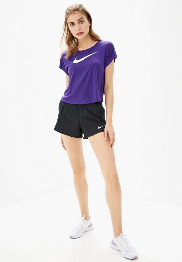 Фото 2 - Футболку спортивная Nike фиолетового цвета