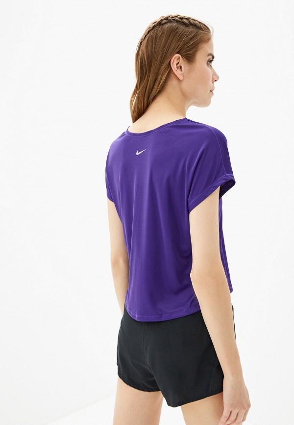 Фото 3 - Футболку спортивная Nike фиолетового цвета