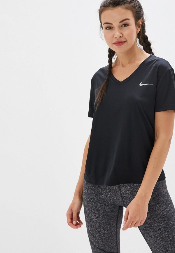 женская футболка nike, черная
