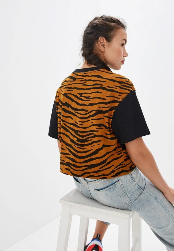 Фото 3 - женскую футболку Nike коричневого цвета
