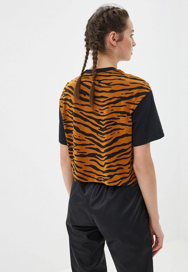 Фото 6 - женскую футболку Nike коричневого цвета