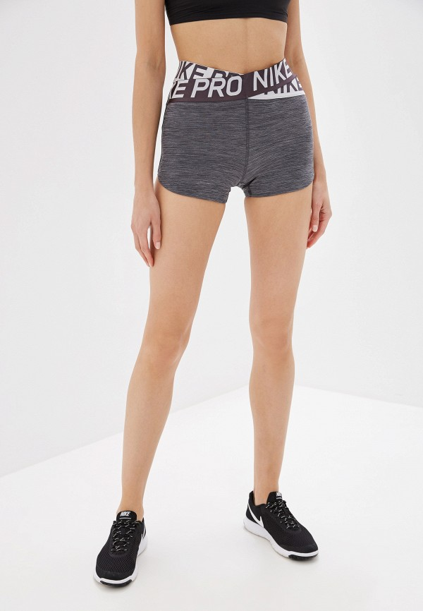 женские спортивные спортивные шорты nike, серые