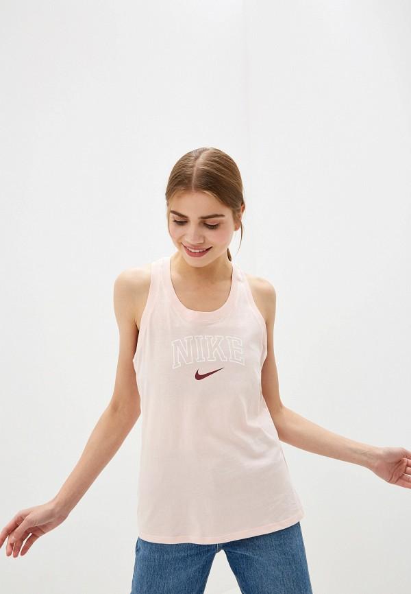 женская спортивные майка nike, розовая