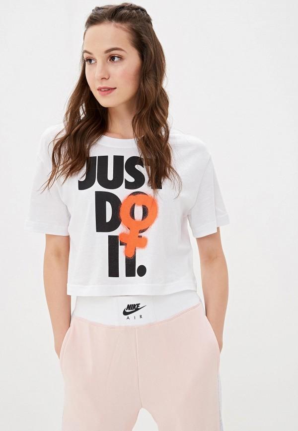 Фото - Топ спортивный Nike белого цвета