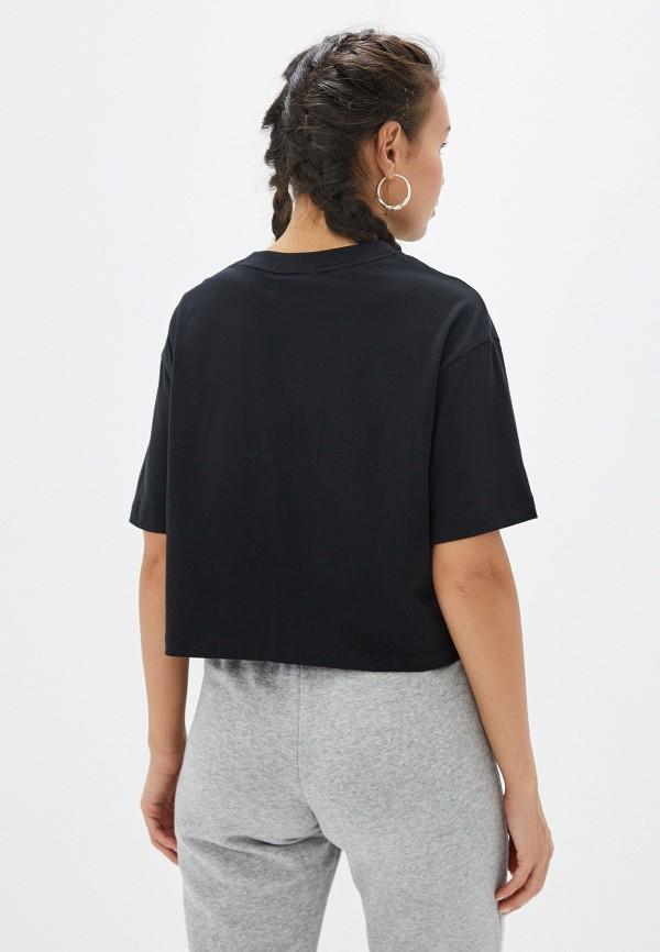 Фото 3 - женскую футболку Nike черного цвета