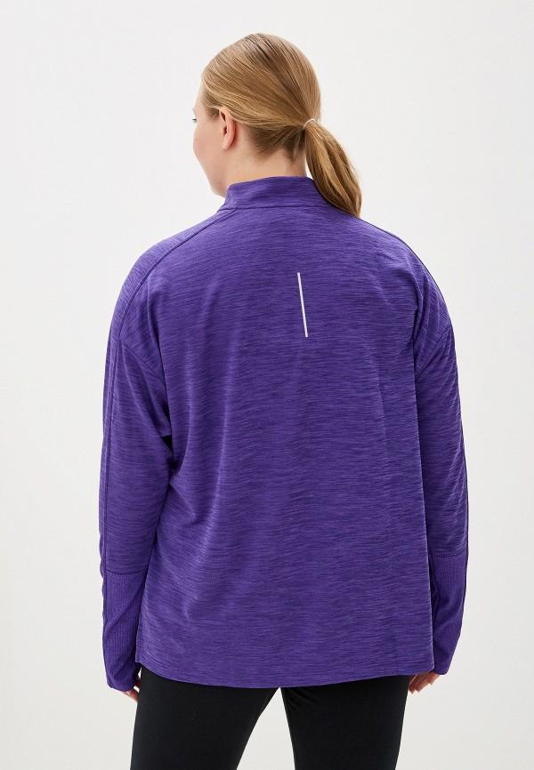 Фото 3 - Лонгслив спортивный Nike фиолетового цвета