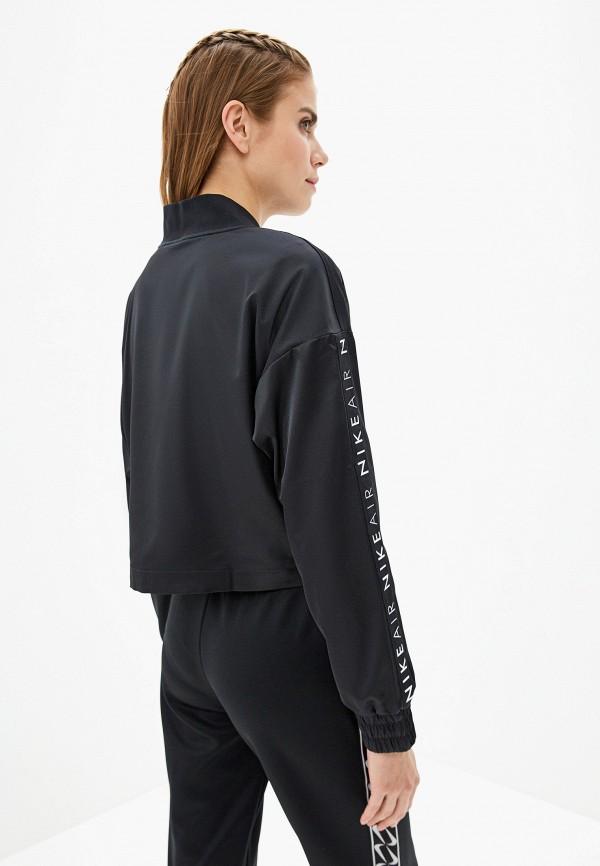 Фото 3 - женскую толстовку или олимпийку Nike черного цвета