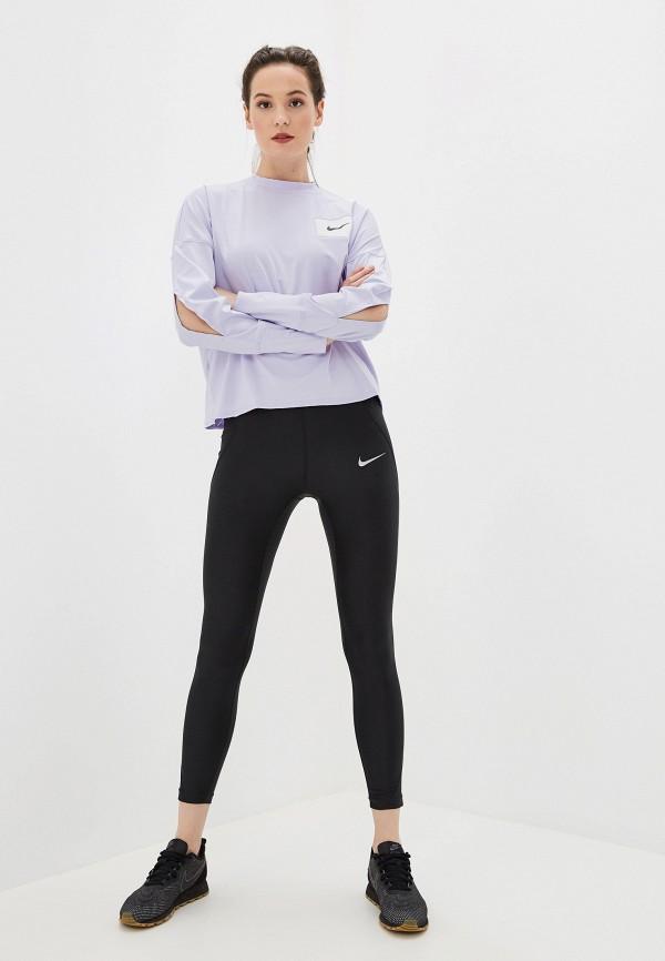 Фото 2 - Лонгслив спортивный Nike фиолетового цвета