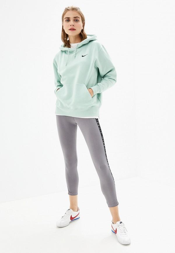 Фото 2 - Леггинсы Nike серого цвета