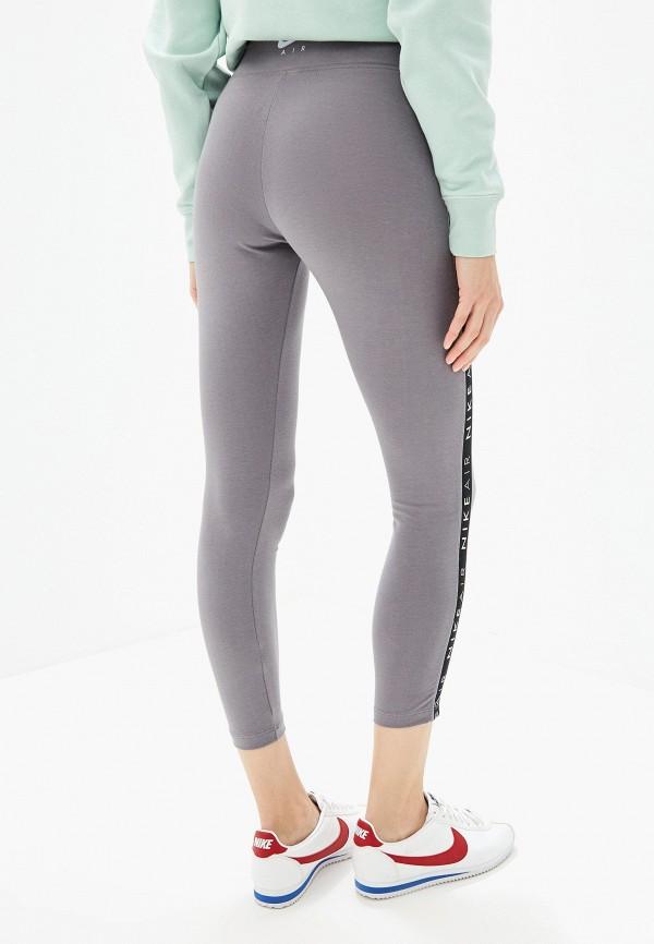 Фото 3 - Леггинсы Nike серого цвета