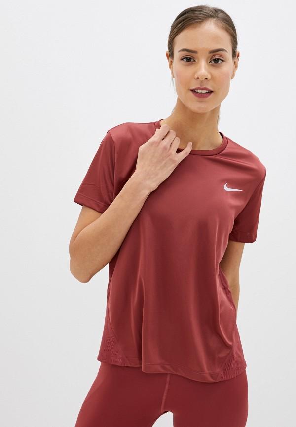 женская спортивные футболка nike, коричневая