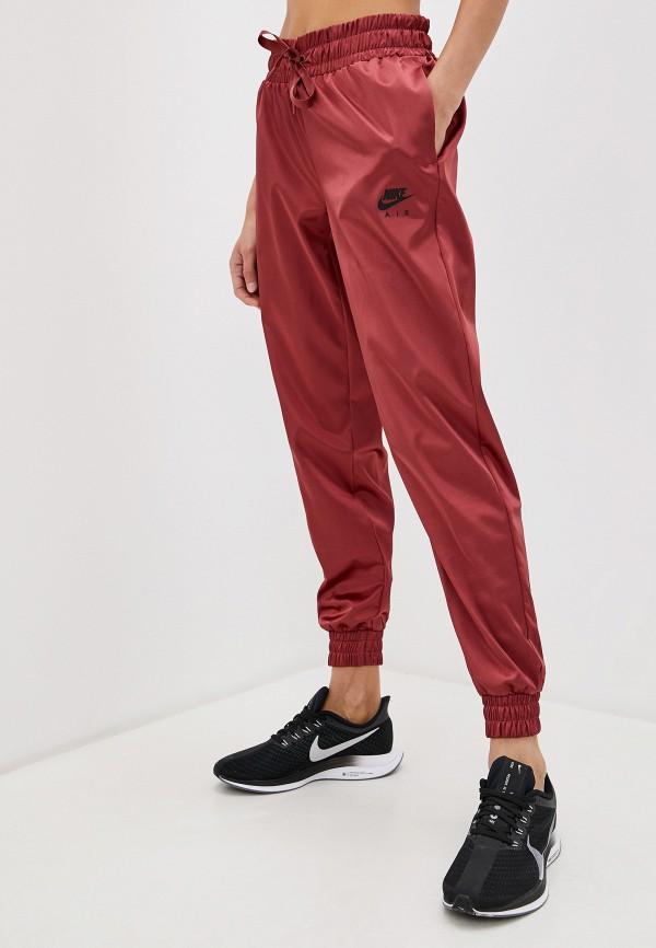 женские спортивные брюки nike, бордовые