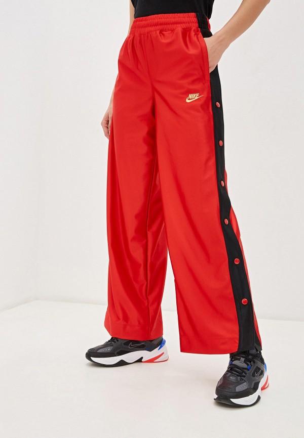 женские спортивные брюки nike, красные