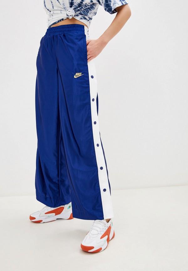 женские спортивные брюки nike, синие
