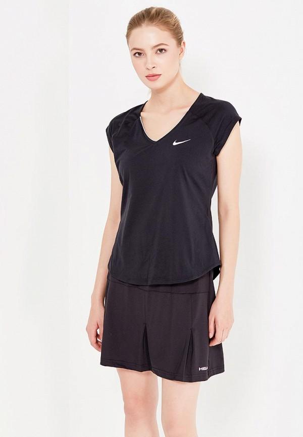 Купить Майка спортивная Nike, PURE TOP, NI464EWHBM19, черный, Весна-лето 2018