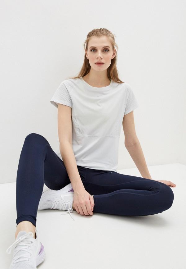 женская спортивные футболка nike, серая