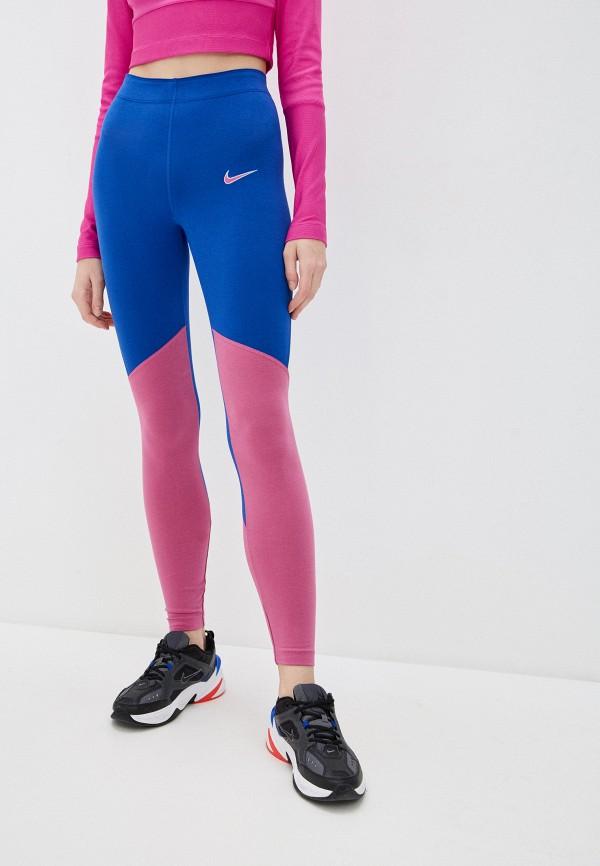 женские спортивные леггинсы nike, разноцветные