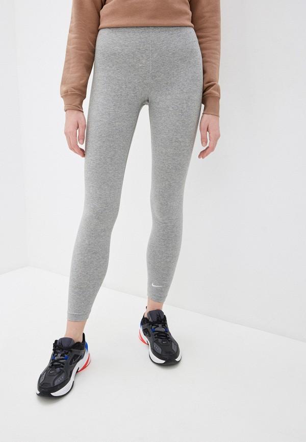 женские спортивные леггинсы nike, серые