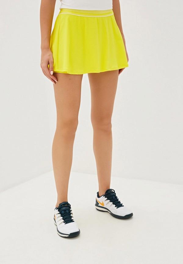женская спортивные юбка nike, желтая