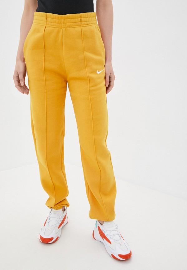 женские спортивные брюки nike, желтые